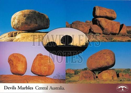 Devils Marbles Post Card front