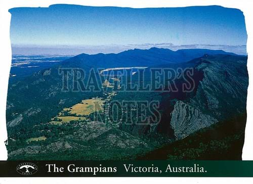 The Grampians Scenic View Post Card front