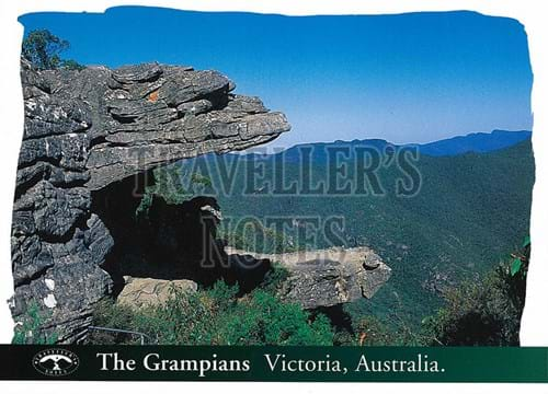 The Grampians Rock Formation Post Card front