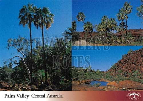 Palm Valley Post Card front